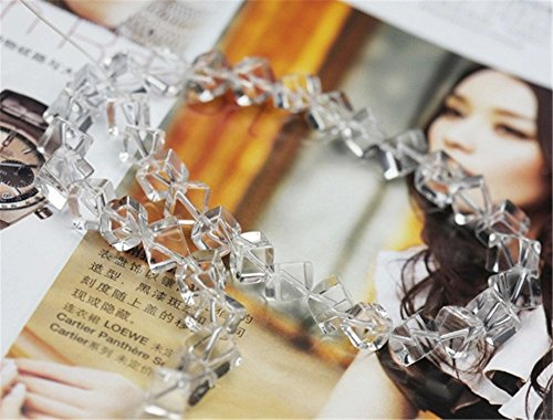 6mm-10mm Grade A Natural White Crystal Quartz Cube Beads Clear Quartz Cube Beads 13 Inch Strand for Jewelry Making (GW43) (10mm*10mm*10mm)