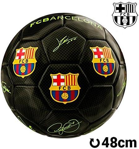 Balón de Fútbol Mediano Negro F.C. Barcelona: Amazon.es: Juguetes ...