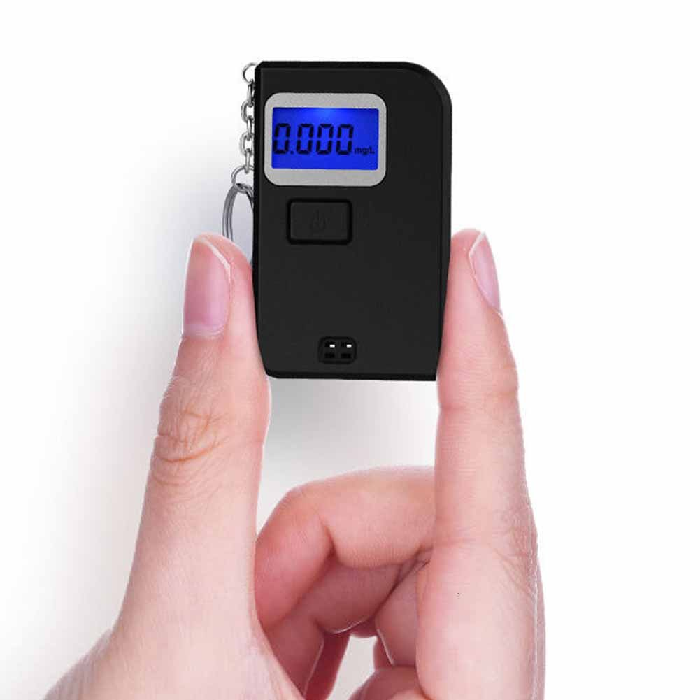 Portable Alcohol Tester, Yvonne Professional Breathalyzer Breath Digital Display Mini Alcohol Detector with Semi-Conductor Sensor Key Chain Analyzer Detector, Backlit Large Digital LCD Display