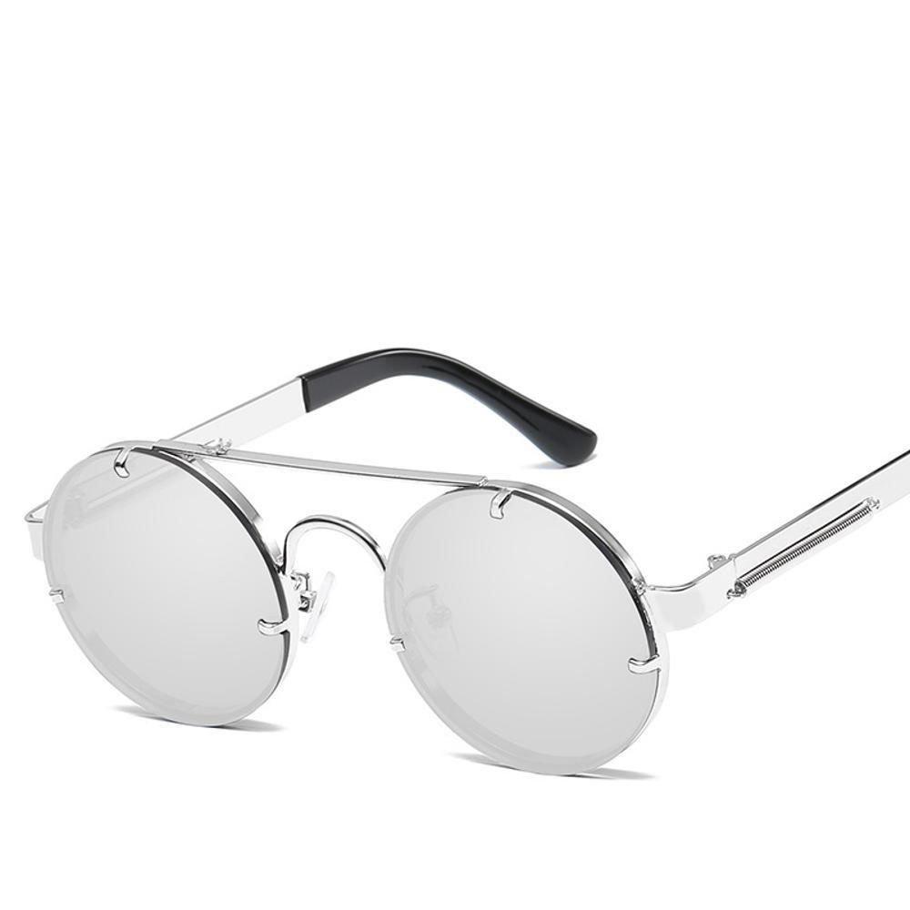 Aoligei L'Europe et le miroir de rétro-prince du vent États-Unis rond cadre lunettes de soleil lunettes printemps miroir jambe Sunglass décoratifs Lunettes de soleil métal ES QvSL5Xet