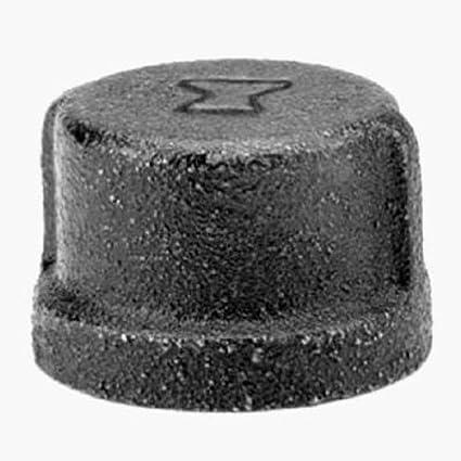1 NPT Female Malleable Iron Pipe Fitting Anvil 8700132304 Black Finish Cap