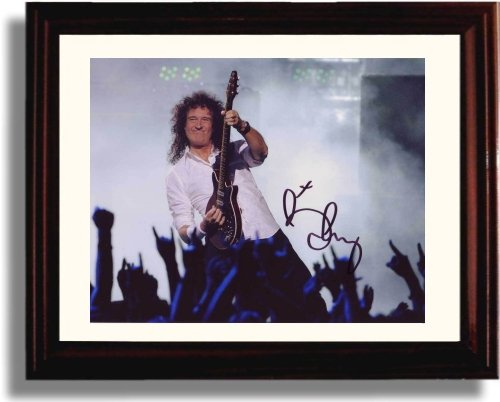 Brian May Replica (Framed Brian May Autograph Replica Print)