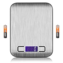 Digital Food Scale,Vanzon Multifunction Kitchen Gram Scale,Ultra Slim,Multiple Unit Conversion,Stainless Steel Platform with Smooth Surface Meat Scale,Perfect for Kitchen Cooking and Coffee