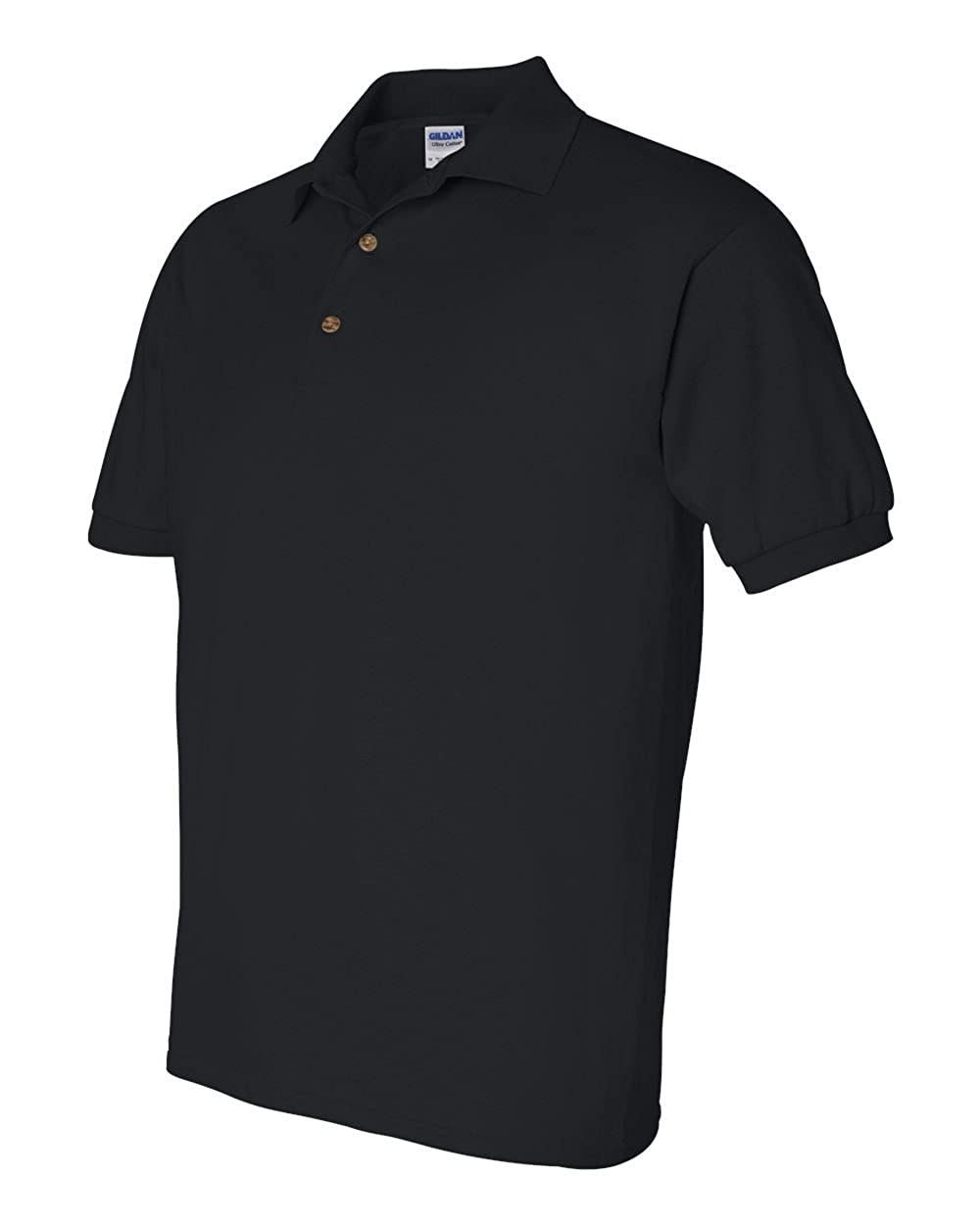 bd4916ef6 Gildan Men's Button-Down Polo Shirt, Black, X-Large. ( Pack5 ) at Amazon  Men's Clothing store: