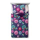 JoJo Siwa Girls Bedspread Twin Full Quilt and Sham Set Reversible Purple Bedding