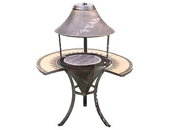 Espectacular barbacoa chimenea decorativa jardín de hierro fundido Fire Pit barbacoa con mosaico de mesa –