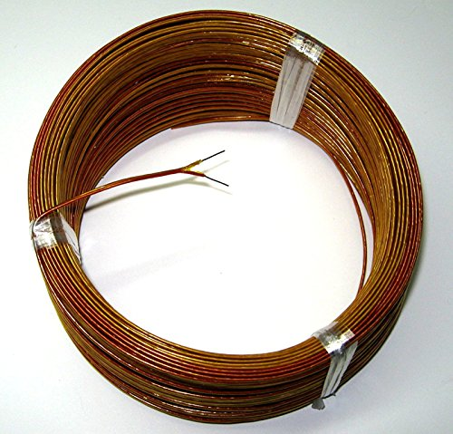 (High Temperature K-type Thermocouple Wire AWG 24 w. Kapton insulation - 5 yd roll )