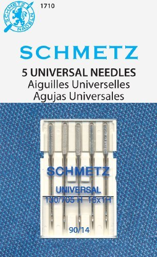 SCHMETZ Universal (130/705 H) 5 Household Sewing Machine Needles - Carded - Size 90/14