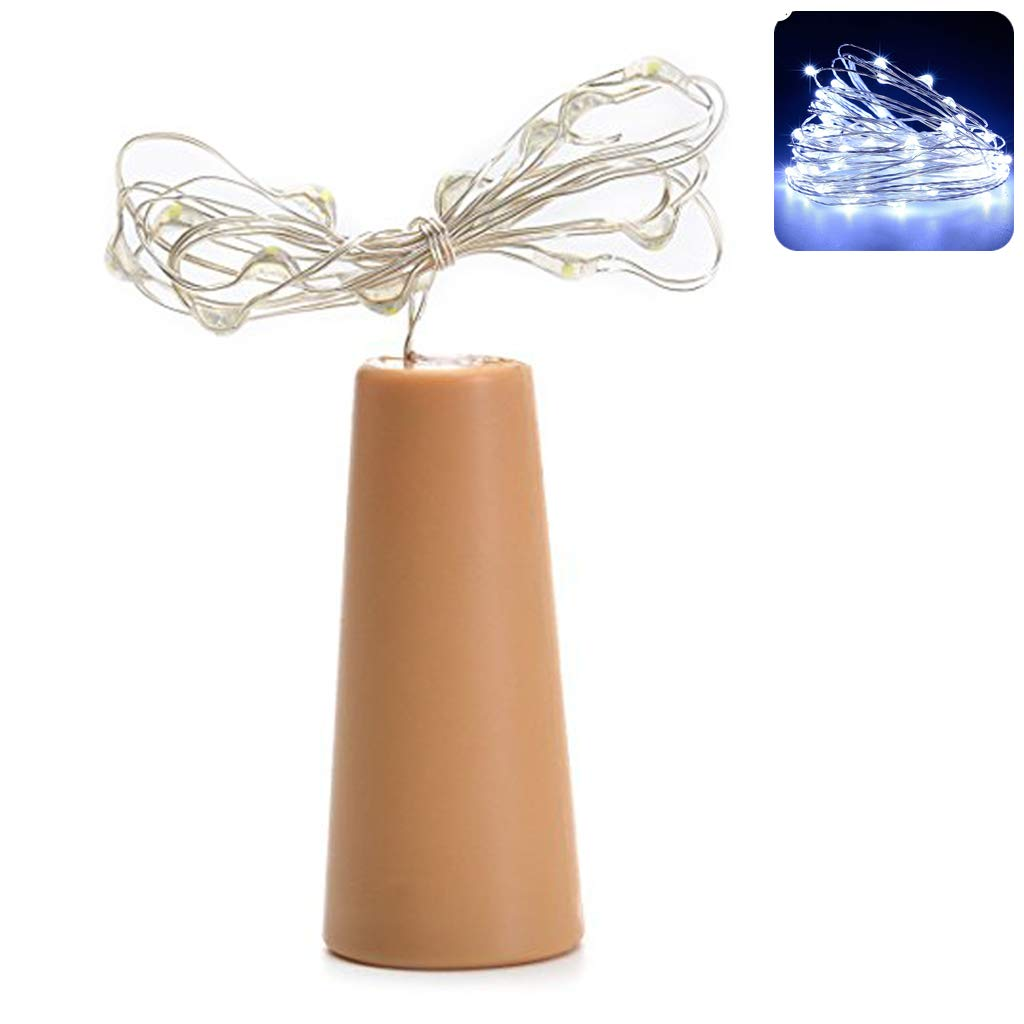 2M 20 LED Wine Bottle String Lights Cork Shaped Glass Stopper Lamp Christmas DIY by Shaoge
