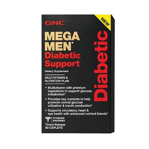 GNC Mega Men Diabetic Support - 90 Caplets