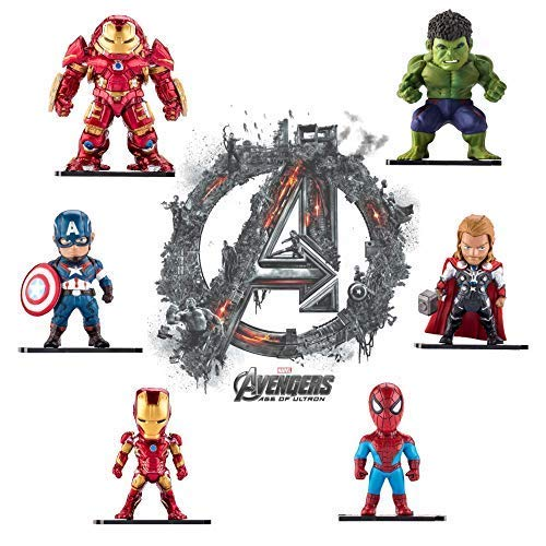 Marvel Avengers Titan Hero Series Exclusive-iron Man、Hulk、Thor、Spider-man、Captain America、Hulkbuster 6 Figure Set//Car decoration Boenxin