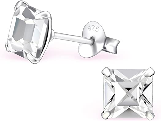 22 Girls Star Crystal Ear Studs 925 Sterling Silver Nb Of Crystal Stones