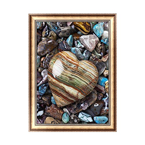 Mingo 5D DIY Diamond Painting Rhinestone Flowers of Crystals Embroidery Kits Arts, Crafts & Sewing Cross Stitch - Heart Shape Stone ()