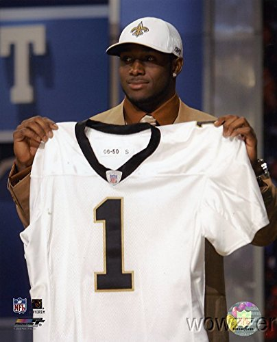 (Reggie Bush Draft Day Saints NFL Hologram 8x10 Color Glossy Photo #1 in Mint)