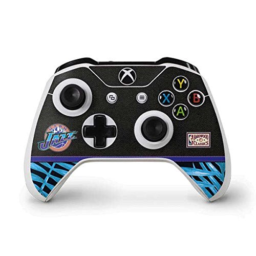 NBA Utah Jazz Xbox One S Controller Skin - Utah Jazz Retro Palms Vinyl Decal Skin For Your Xbox One S Controller by Skinit