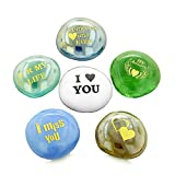 Inspirational Amulets Romance Love Powers Couples Lucky Glass Engraved Stones
