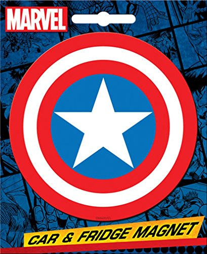 Ata-Boy Marvel Comics Die-Cut Captain America Logo Magnet for Cars, Refrigerators and Lockers,One -
