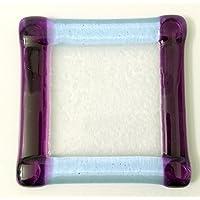 Lavender and Purple Glass Coaster Coffee Mug Candle