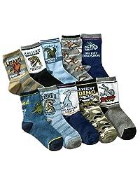 Little boys Socks Cotton Comfort Dinosaur Thick Socks 10 Pair Pack