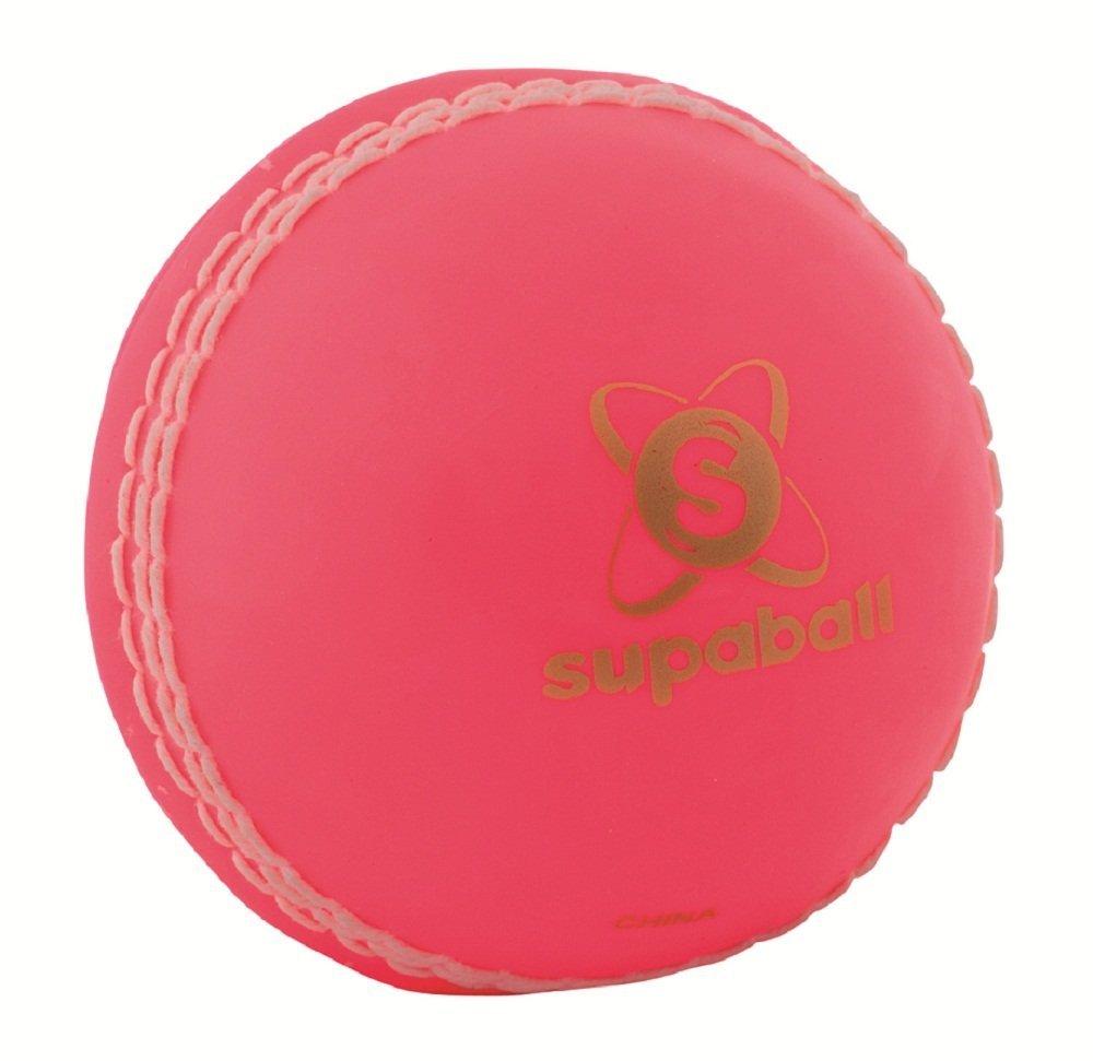 lecteurs Supaball extérieur tournoi Match Play Training & Practise Balle de cricket rose Readers