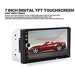 7018B Universal 7 Inch 2 DIN Car Audio Stereo Player Touch Screen Car Video MP5 Player Support Bluetooth TF SD MMC USB FM Radio