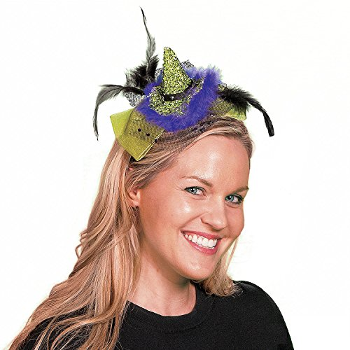 Green Witch Hat Headband (Green Witch Hat Headband - Halloween Accessories)