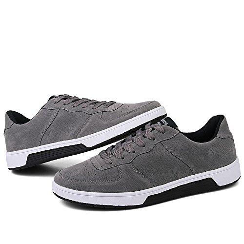 Deporte de Gris Verano de Cordones Hombres de Deporte 46 Moda Zapatillas hasta los de el tacón 2018 Zapatos Otoño con Plano tamaño de IBtq4q