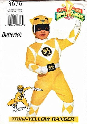 Butterick Sewing Pattern B3676 3676 Child's Boys Girls Sizes 4-14 Power Ranger Costume (Power Ranger Costume Pattern)