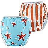 LARGE Nageuret Reusable Swim Diaper, Adjustable...