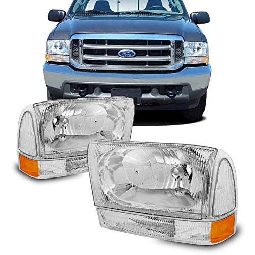 Ford Excursion F250 F350 F450 Superduty OE Replacement Headlights Driver/Passenger Lamps Pair