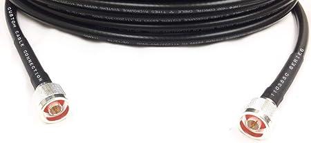 125 M N macho a N macho cable de antena coaxial LMR400 veces ...