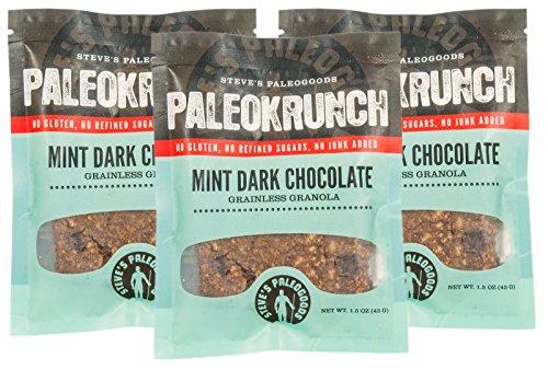 Steve's PaleoGoods, Paleokrunch Bar Mint Dark Chocolate, 1.75 oz (Pack of 3)