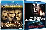 Gangs of New York & Shutter island Blu Ray 2 Pack Crime Movie Leonardo DiCaprio Martin Scorsese Bundle Set