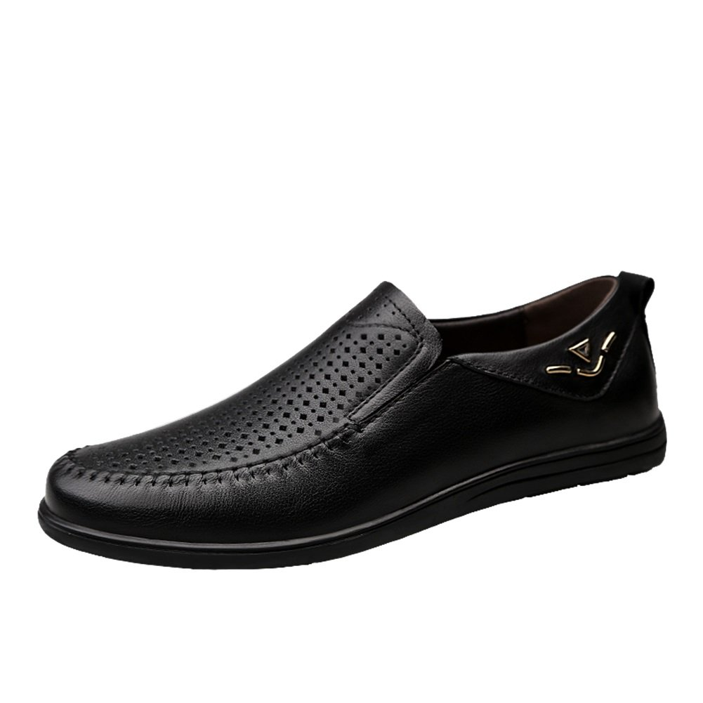 Color : B, Size : 45 XUEXUE Mens Shoes Leather Spring Summer Driving Shoes Comfort Loafers /& Slip-Ons Walking Shoes Breathable Hollow-Out Office /& Career Formal Business Work