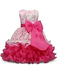 Girl Ruffles Vintage Embroidered Sequins Flower Wedding Dress