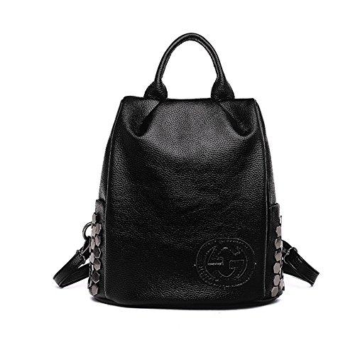 G-AVERIL GA1166-B - Bolso mochila para mujer negro negro negro