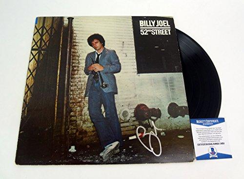 Billy Joel The Piano Man Signed Autograph 52nd Street Vinyl Record Album Beckett BAS COA