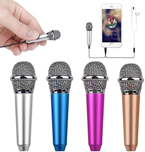 Uniwit Mini Portable Vocal/Instrument Microphone for Mobile Phone Laptop Notebook Apple iPhone Sumsung Android with Holder Clip - Silver