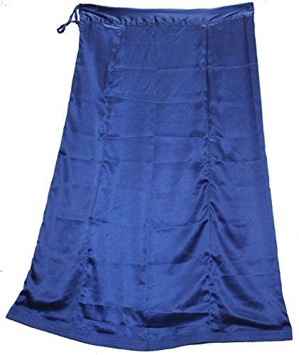 Odishabazaar Women Saree Petticoat Satin Silk Underskirt Lining for Sari + Free Sari Pin (Satin Petticoat)