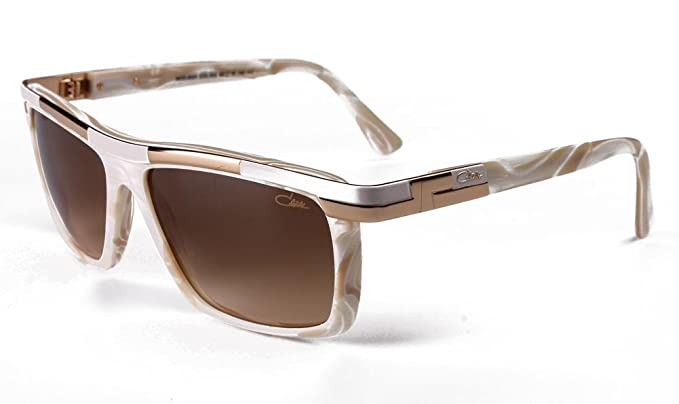 aab1cb41a0fc Cazal 8024 Sunglasses 003SG Off-White Tortoise Bronze Lens 60 mm at Amazon  Men s Clothing store
