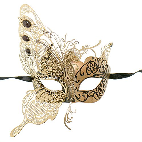 ILOVEMASKS Side Butterfly Masquerade Costume Party Luxury Mask