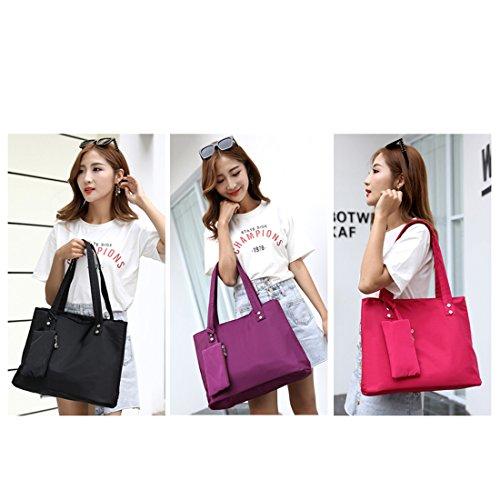 Alovhad Women Handbag Shoulder Bags Purse Waterproof Nylon Tote Travel hobo Bags Purse (Red) by Alovhad (Image #6)