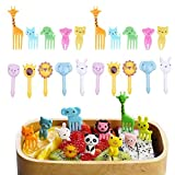 Hofumix Food Picks Fruit Forks Cake Little Forks Dessert Forks Kids Cocktail Sticks Mini Cartoon Animal Forks for Bento Lunch Box,Sandwich,Appetizer,Party Pastry 20pcs