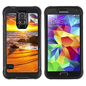 "Hypernova Defender Series TPU protection Cas Case Coque pour Samsung Galaxy S5 V [Sunset Beautiful Nature 31""]"