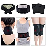 Beyoung Tourmaline Self-Heating Infrared Magnetic Therapy 3 in 1 Pack Neck/Knee/Waist Belt Support Pain Relief Anti-arthritis Kit for Blood Circulation Metabolism Improvement Meridians Unchoking
