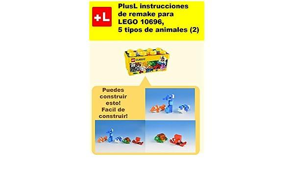 PlusL instrucciones de remake para LEGO 10696,5 tipos de animales (6): Usted puede construir 5 tipos de animales (6) de sus propios ladrillos (Spanish Edition)