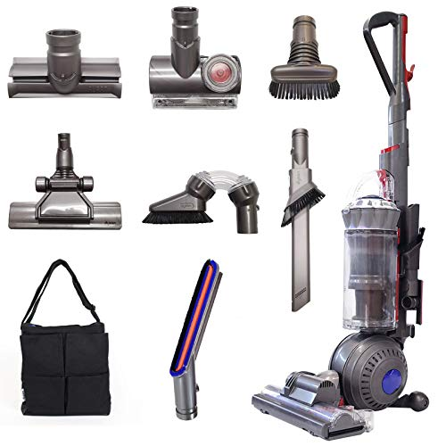 Dyson Ball (Formerly DC65) Animal+ | Allergy Complete Upright Vacuum with 8 Tools | HEPA Filtered | Corded (Silver - 8 Tools)