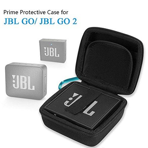 CoWalkers Funda JBL GO 2, Cubierta de la Caja de Transporte EVA Dura para JBL Go 1/2 Altavoz Bluetooth, Bolsillo de Malla...
