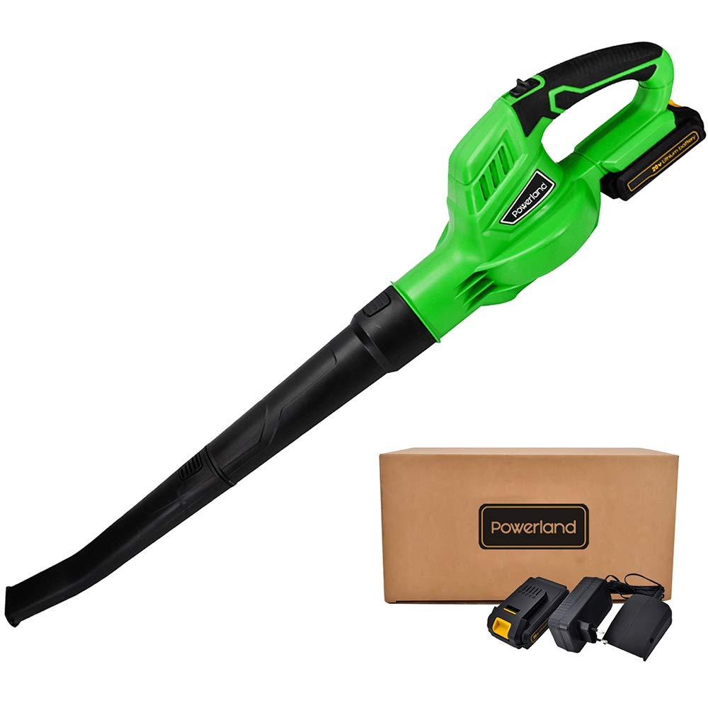 充電式ブロワ コードレス ガーデン清掃 吹き飛ばし専用 20V 2.0Ah リチウムイオン電池1個充電器付き (電池1個付き) B07BLK7G6B  電池1個付き