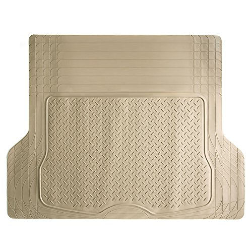 - COPAP Heavy Duty HD Rubber Cargo Liner Floor Mat Weathershield Trim-to-Fit All Season Protection for Cars, SUVs, Vans, Truck (Beige)
